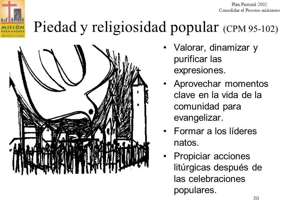 Piedad y religiosidad popular (CPM 95-102)