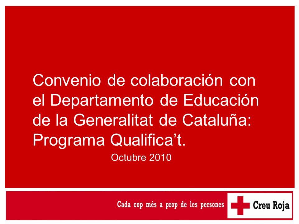 Convenio de colaboración con el Departamento de Educación de la Generalitat de Cataluña: Programa Qualifica't.