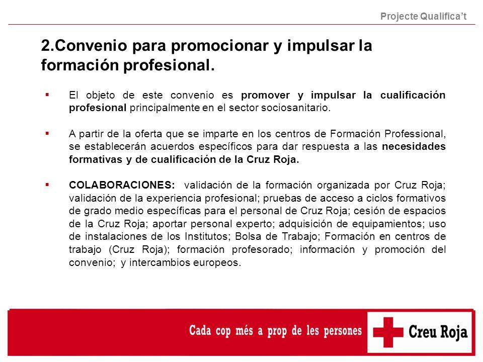 2.Convenio para promocionar y impulsar la formación profesional.