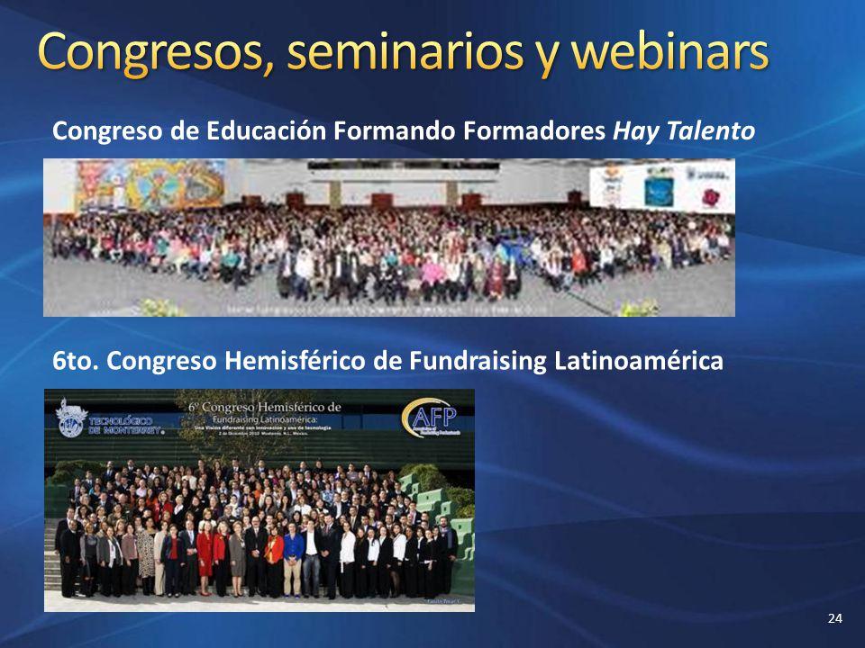 Congresos, seminarios y webinars
