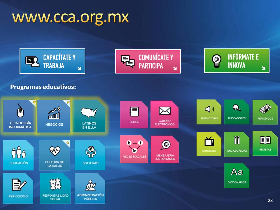 www.cca.org.mx Programas educativos: