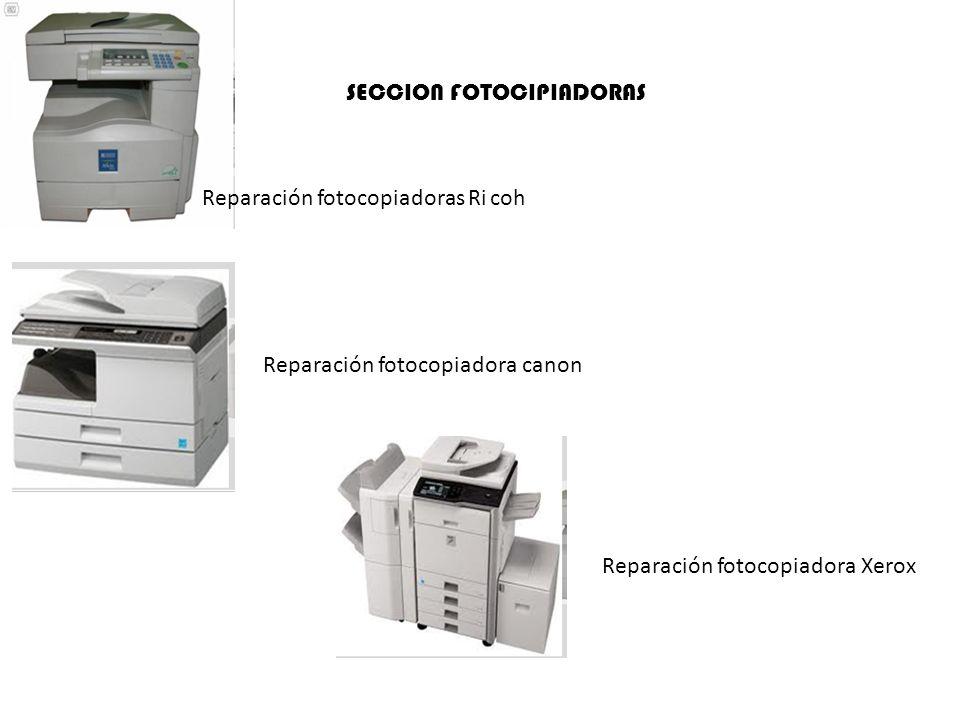 SECCION FOTOCIPIADORAS