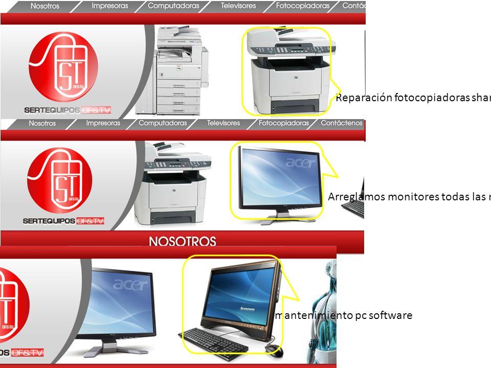 Reparación fotocopiadoras sharp