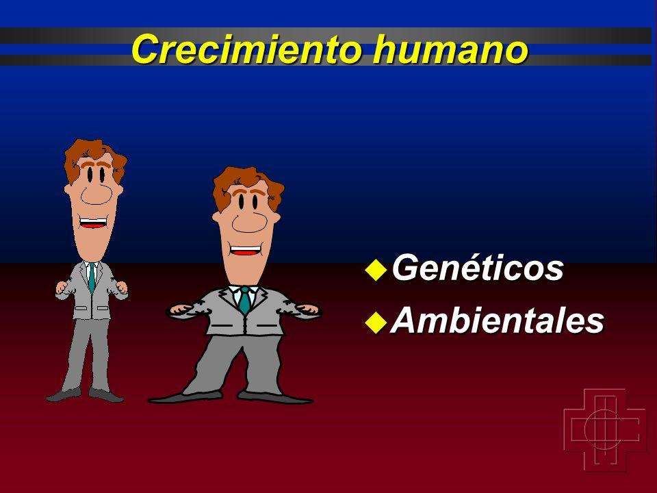 Crecimiento humano Genéticos Ambientales