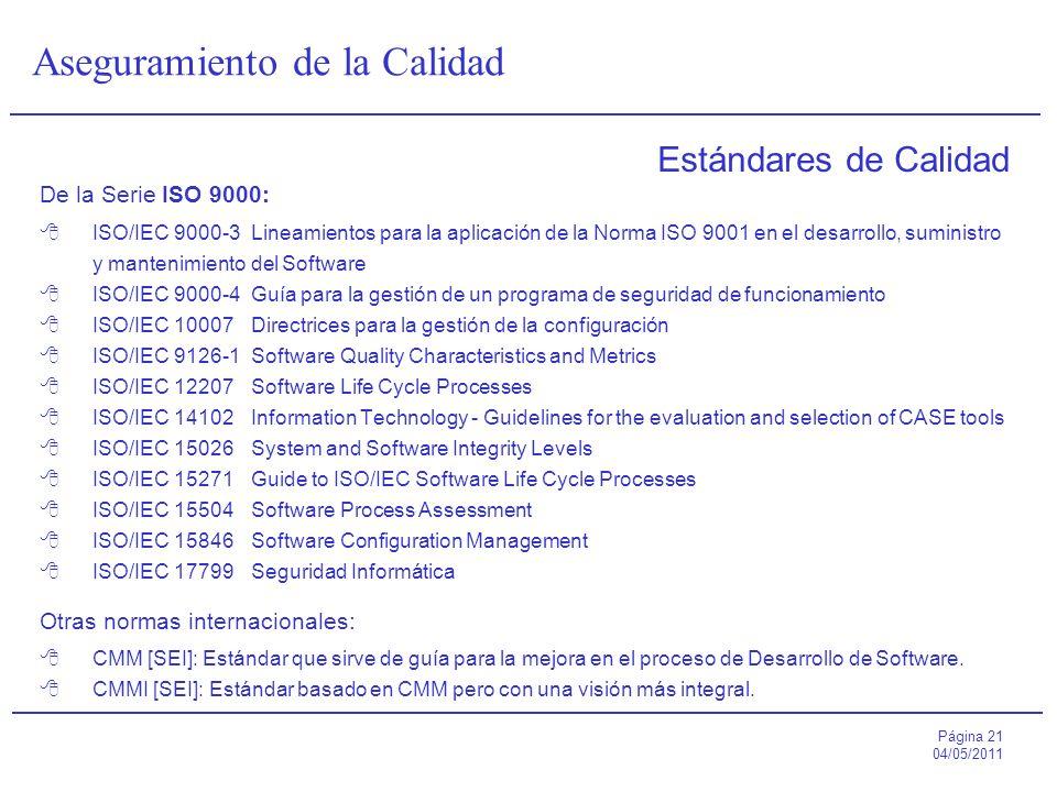 Estándares de Calidad De la Serie ISO 9000: