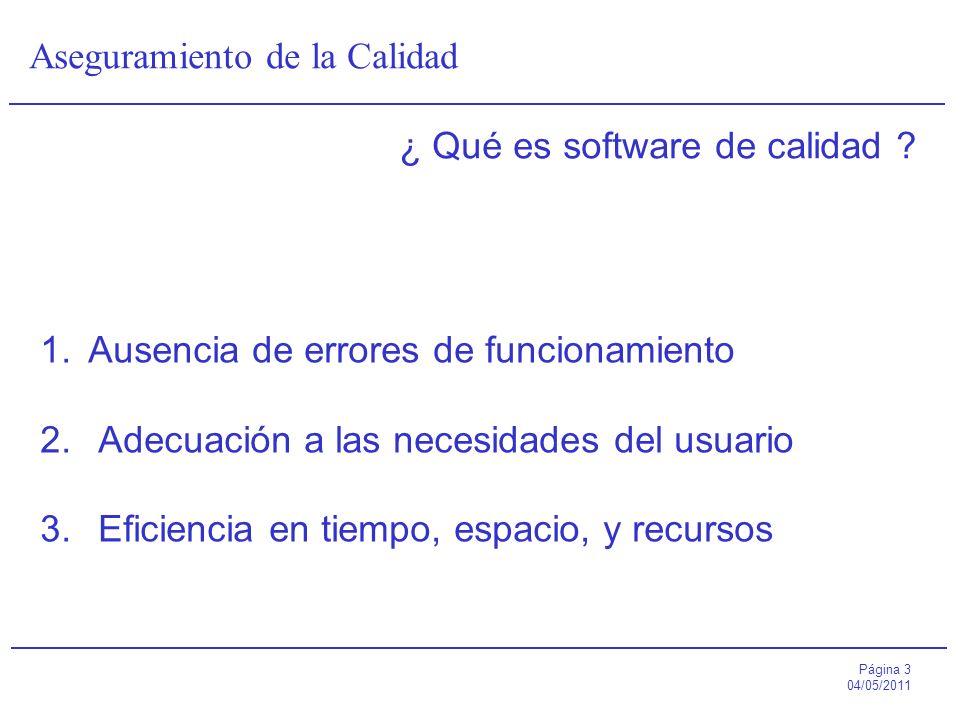 ¿ Qué es software de calidad