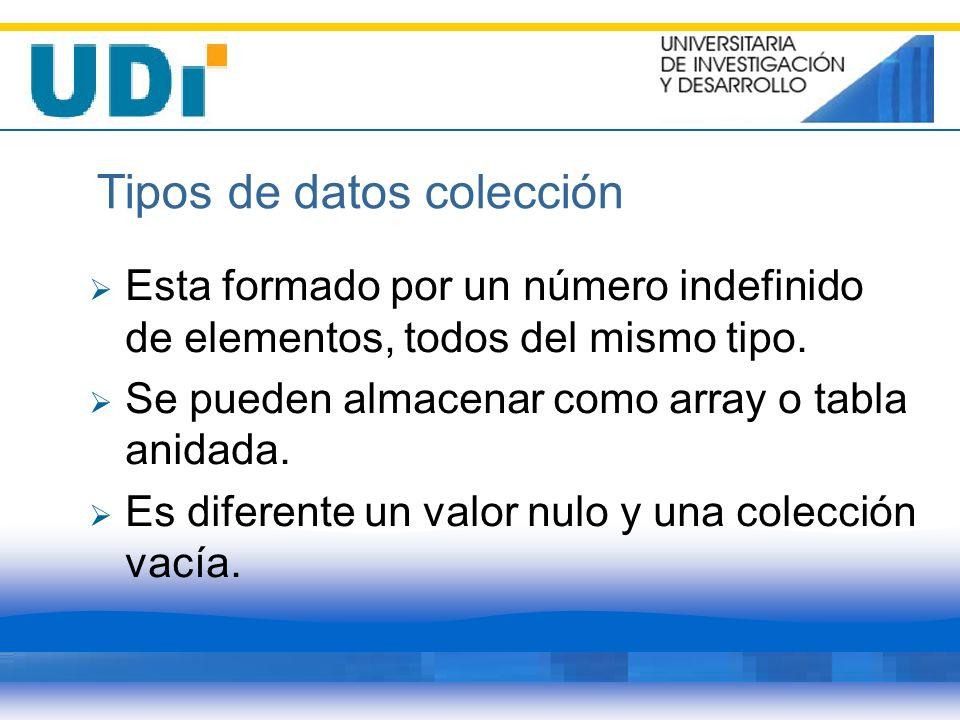 Tipos de datos colección