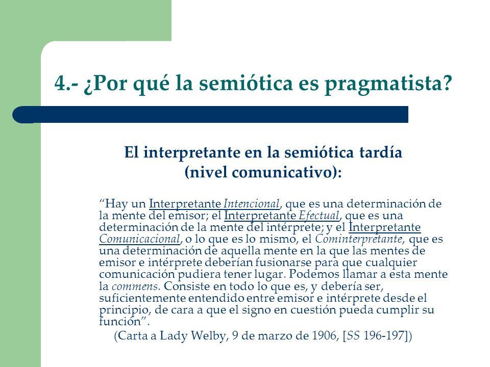 4.- ¿Por qué la semiótica es pragmatista