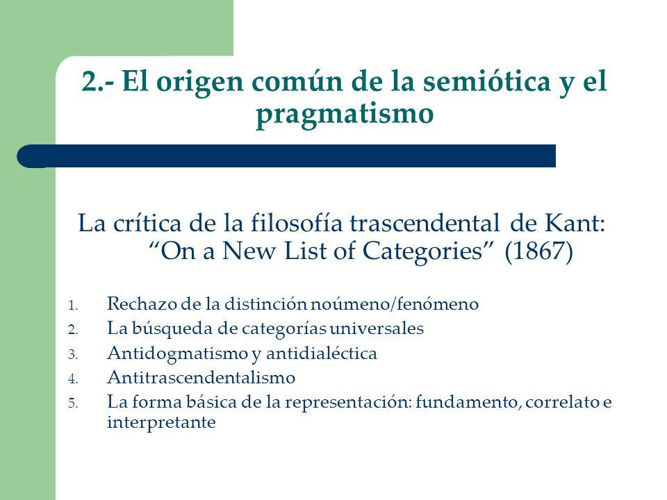 2.- El origen común de la semiótica y el pragmatismo