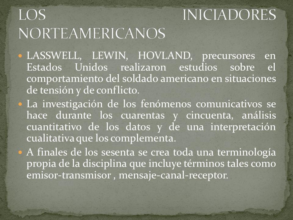 LOS INICIADORES NORTEAMERICANOS
