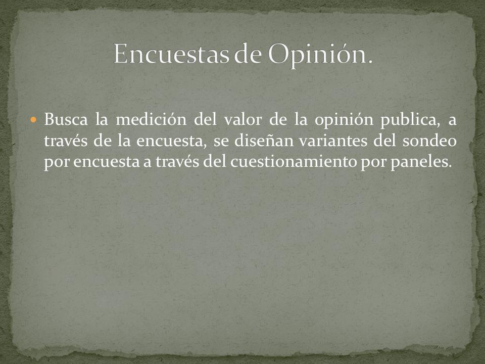 Encuestas de Opinión.