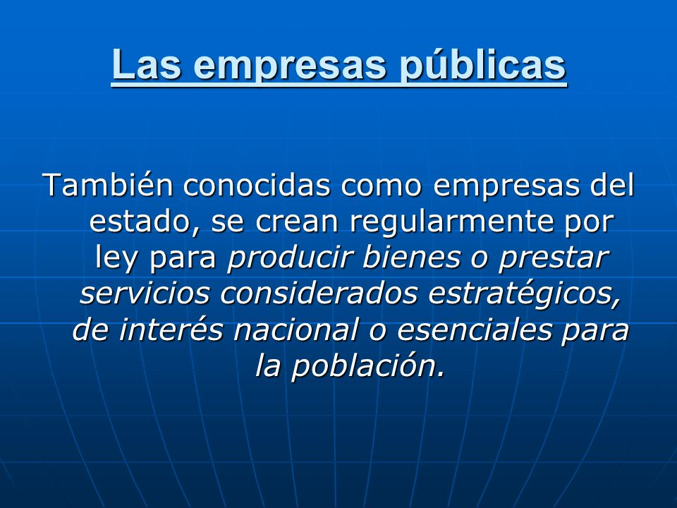 Las empresas públicas