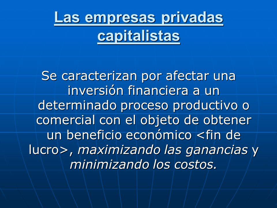 Las empresas privadas capitalistas
