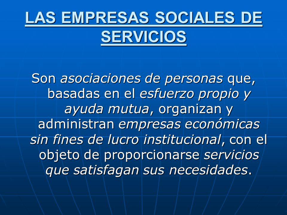 LAS EMPRESAS SOCIALES DE SERVICIOS