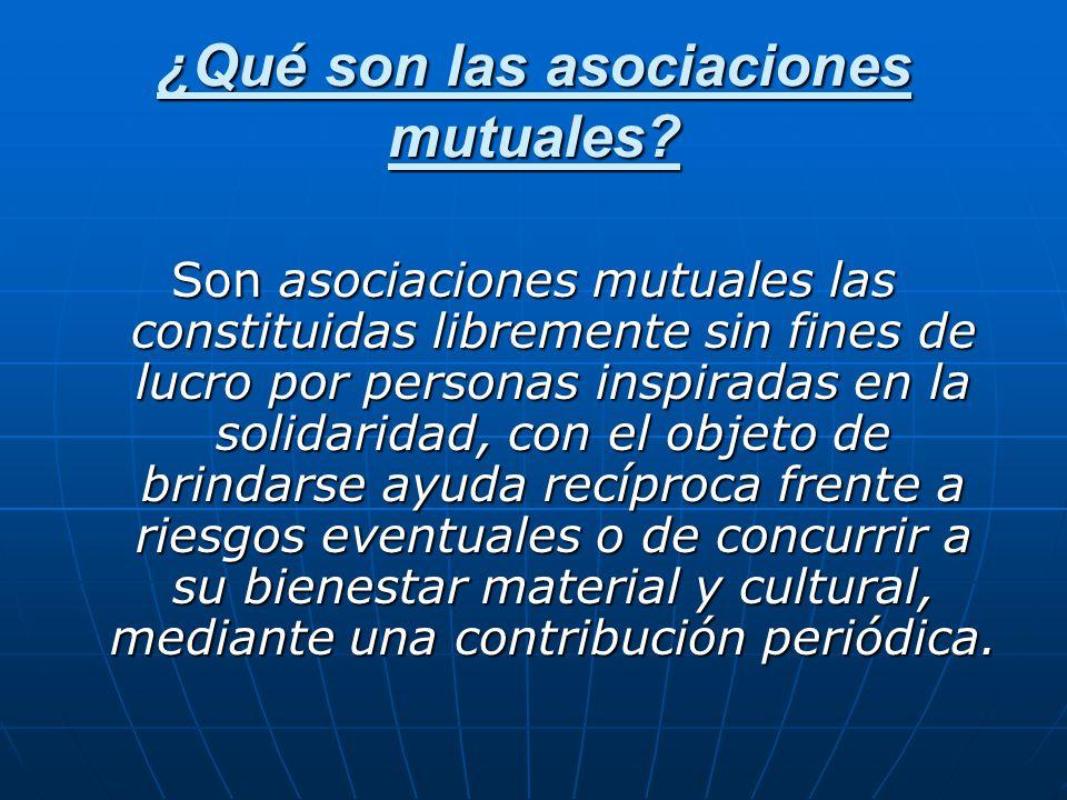 ¿Qué son las asociaciones mutuales
