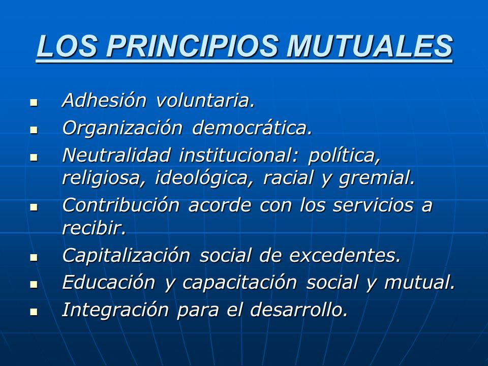 LOS PRINCIPIOS MUTUALES