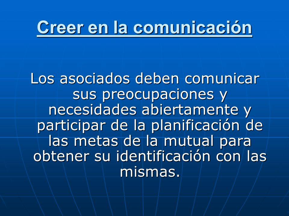 Creer en la comunicación