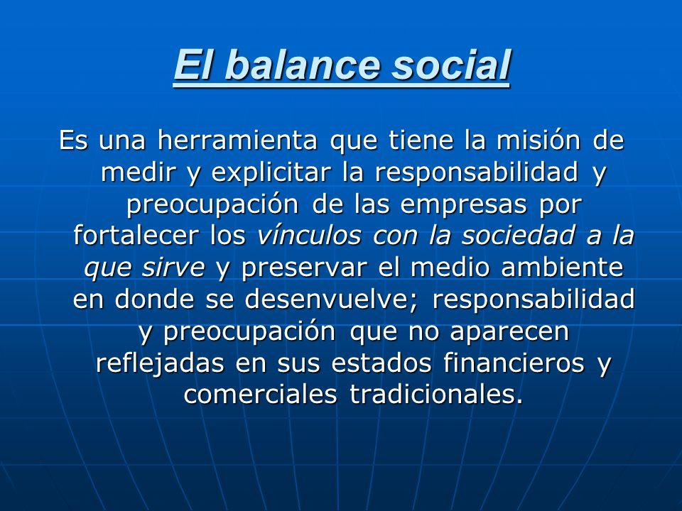 El balance social