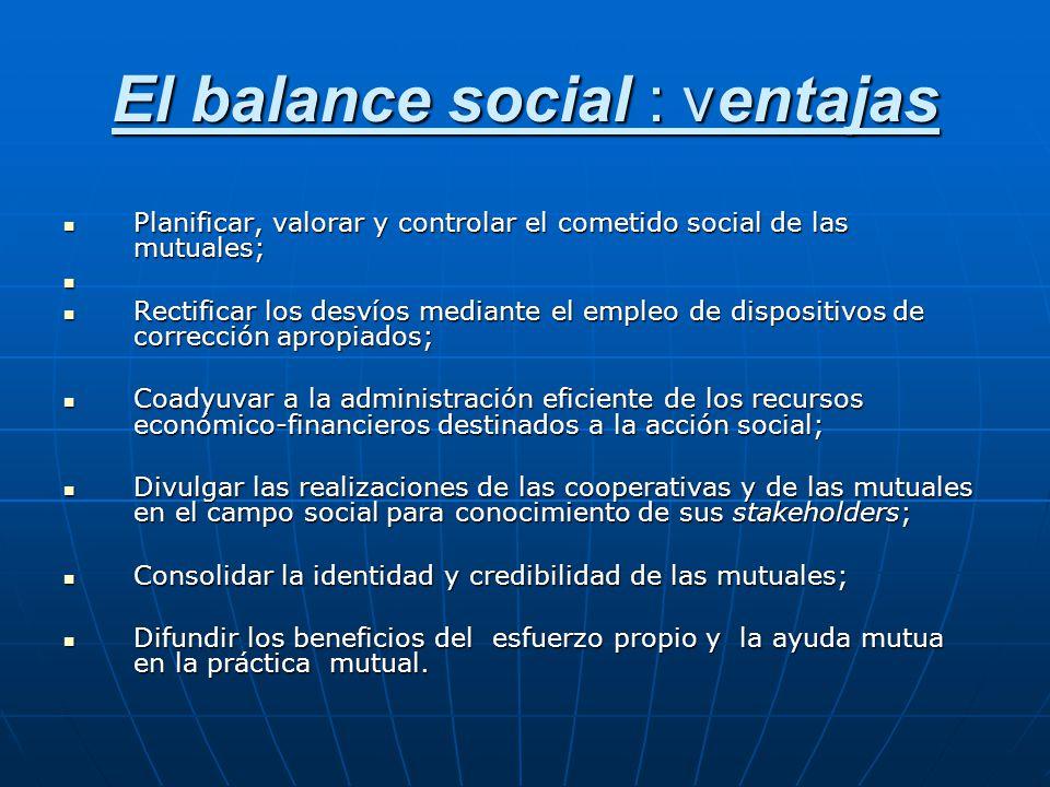 El balance social : ventajas