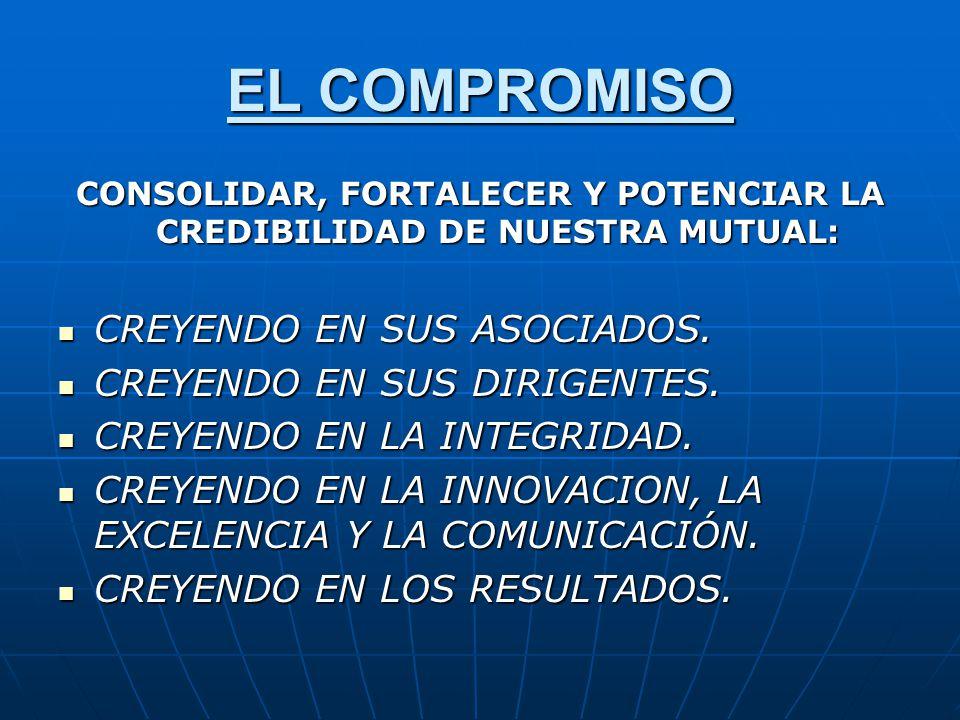 CONSOLIDAR, FORTALECER Y POTENCIAR LA CREDIBILIDAD DE NUESTRA MUTUAL: