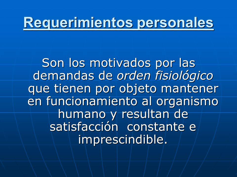Requerimientos personales