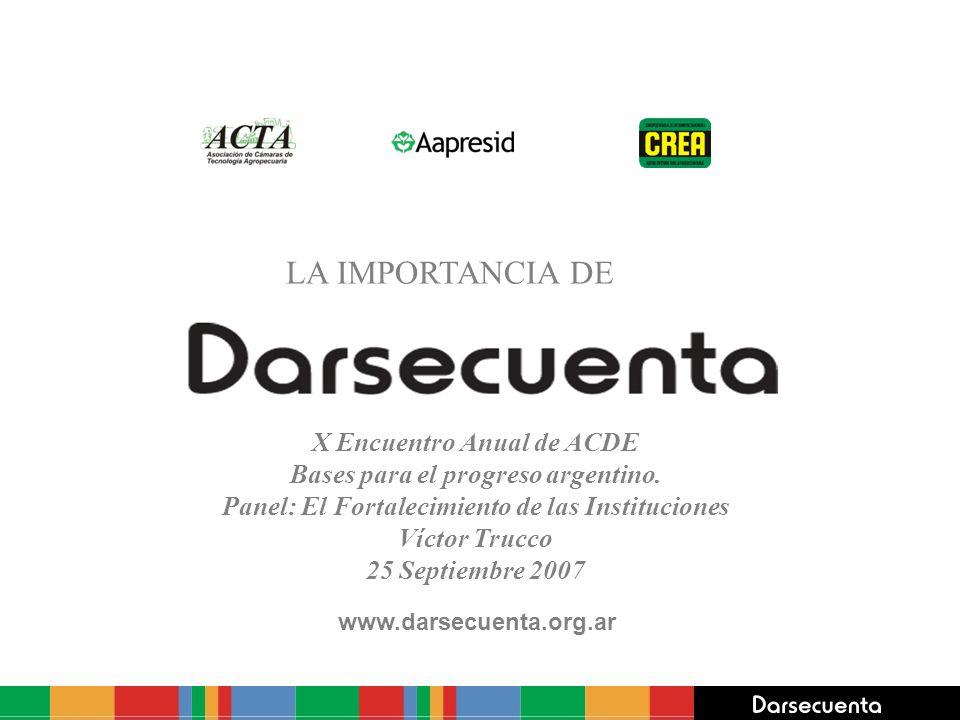 LA IMPORTANCIA DE X Encuentro Anual de ACDE