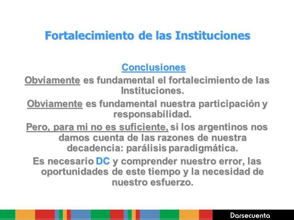 Fortalecimiento de las Instituciones