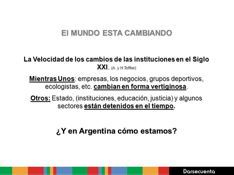 El MUNDO ESTA CAMBIANDO ¿Y en Argentina cómo estamos