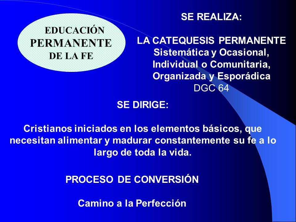 LA CATEQUESIS PERMANENTE Sistemática y Ocasional,