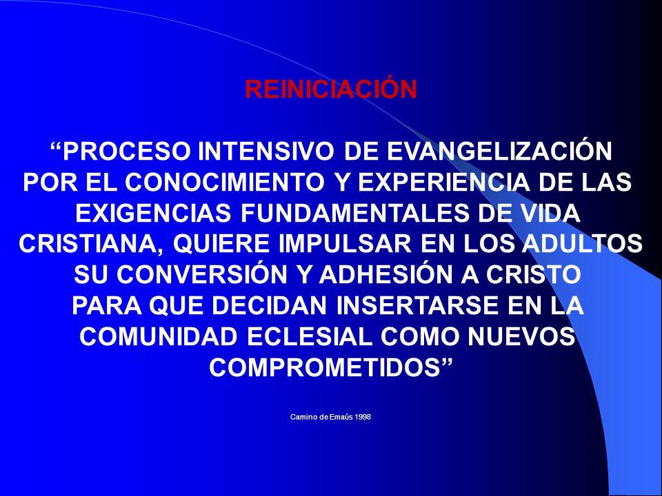 PROCESO INTENSIVO DE EVANGELIZACIÓN