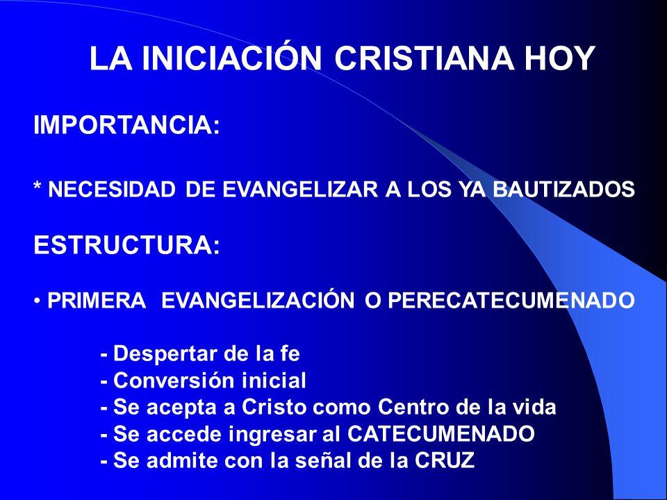 LA INICIACIÓN CRISTIANA HOY