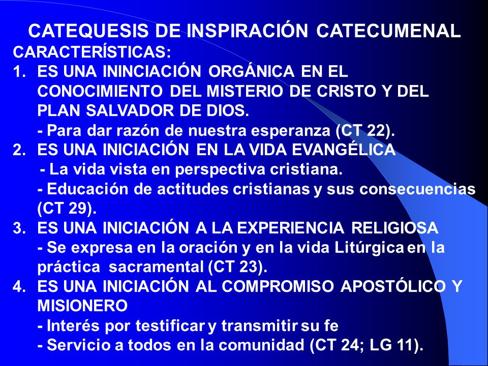 CATEQUESIS DE INSPIRACIÓN CATECUMENAL
