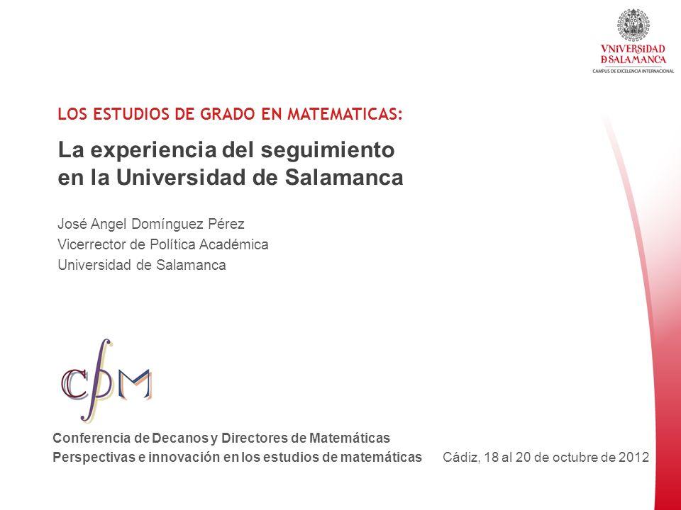 La experiencia del seguimiento en la Universidad de Salamanca