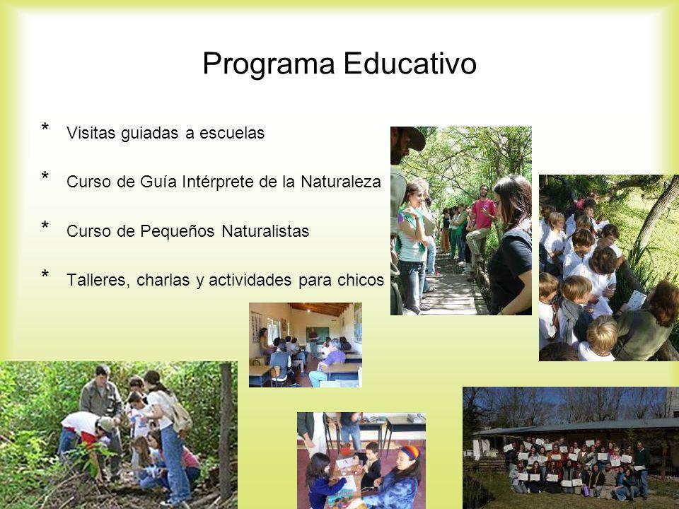 Programa Educativo Visitas guiadas a escuelas