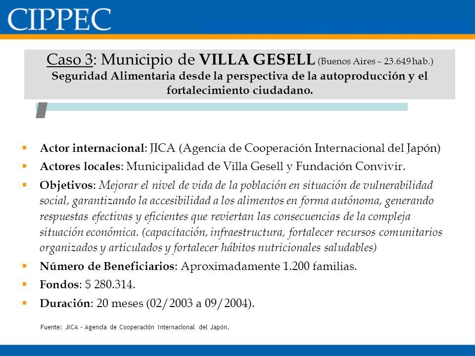 Caso 3: Municipio de VILLA GESELL (Buenos Aires – 23. 649 hab
