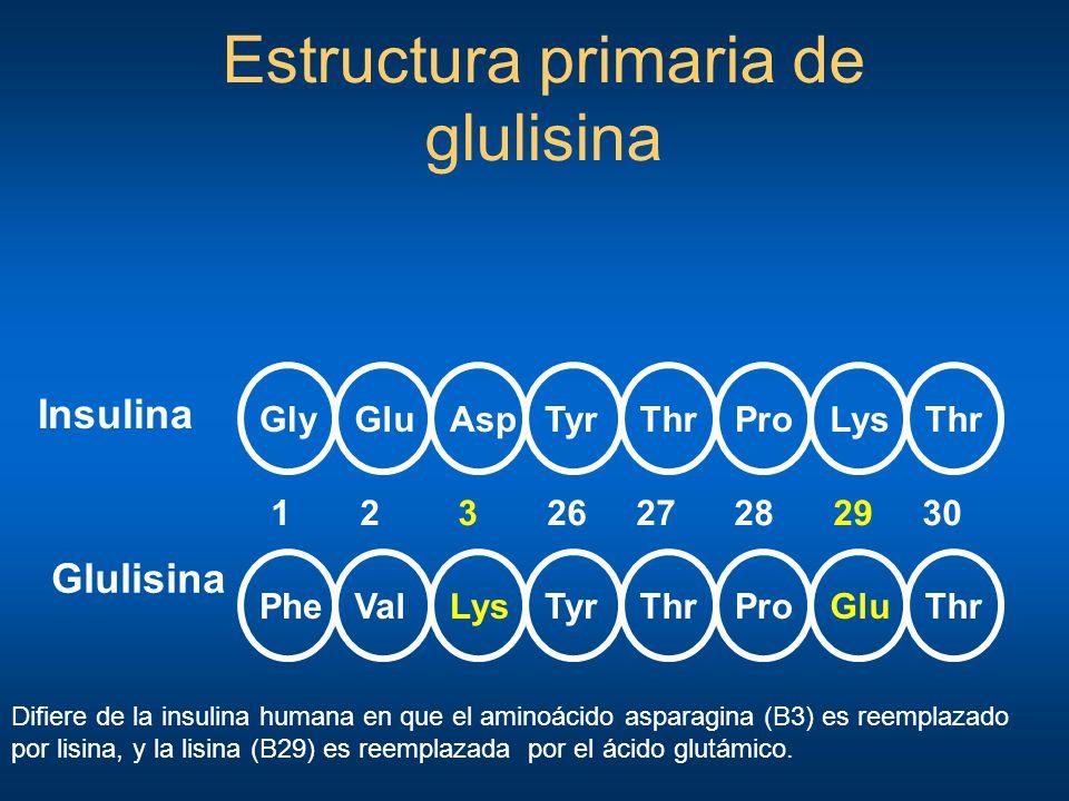 Estructura primaria de glulisina