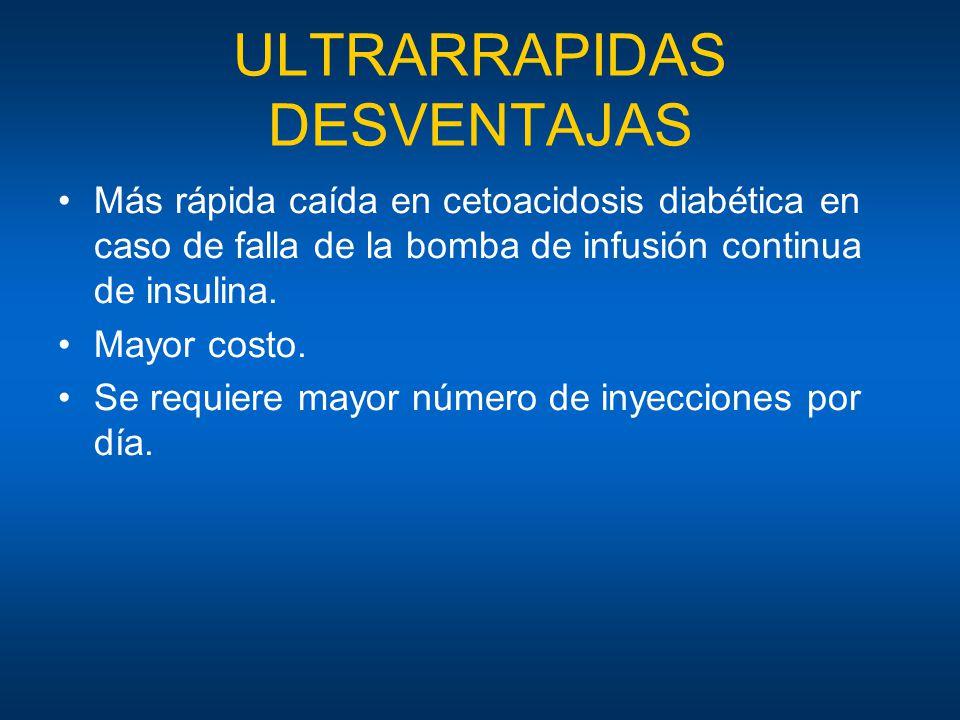 ULTRARRAPIDAS DESVENTAJAS