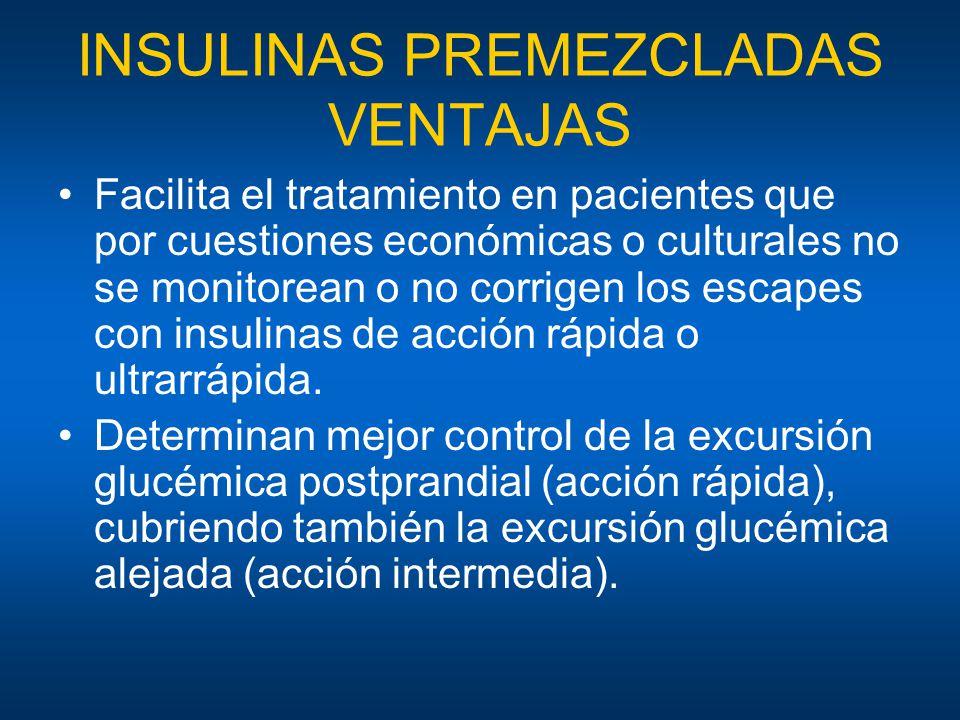 INSULINAS PREMEZCLADAS VENTAJAS
