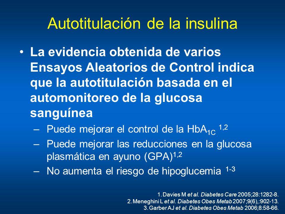 Autotitulación de la insulina