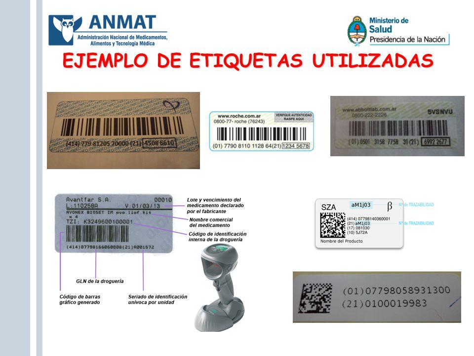 EJEMPLO DE ETIQUETAS UTILIZADAS