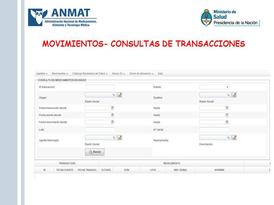 MOVIMIENTOS- CONSULTAS DE TRANSACCIONES