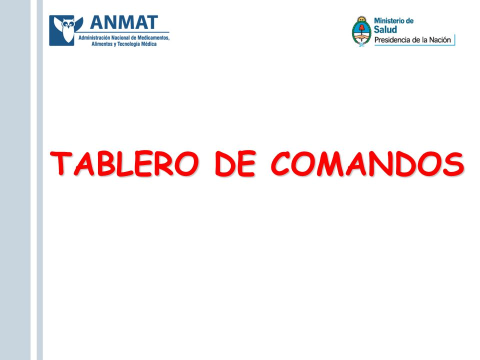 TABLERO DE COMANDOS