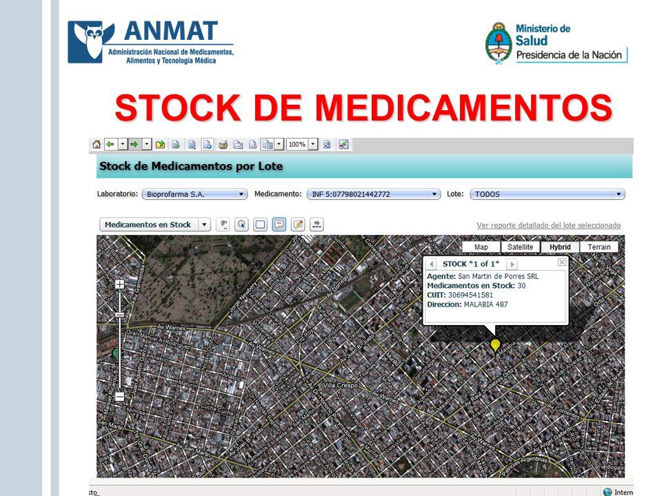 STOCK DE MEDICAMENTOS Zoom en CABA- Mapa satelital