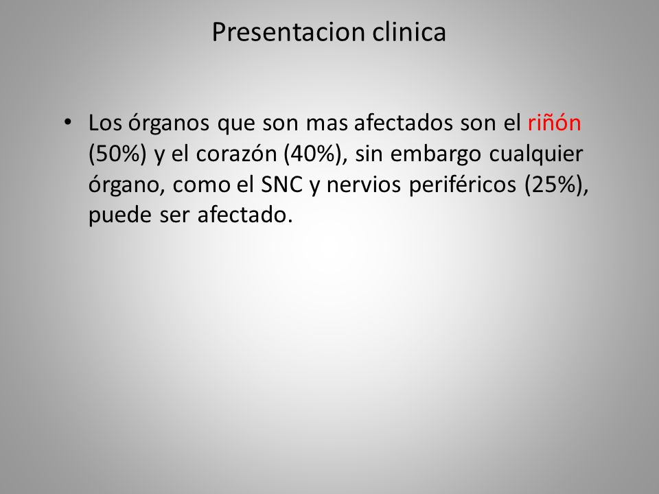 Presentacion clinica