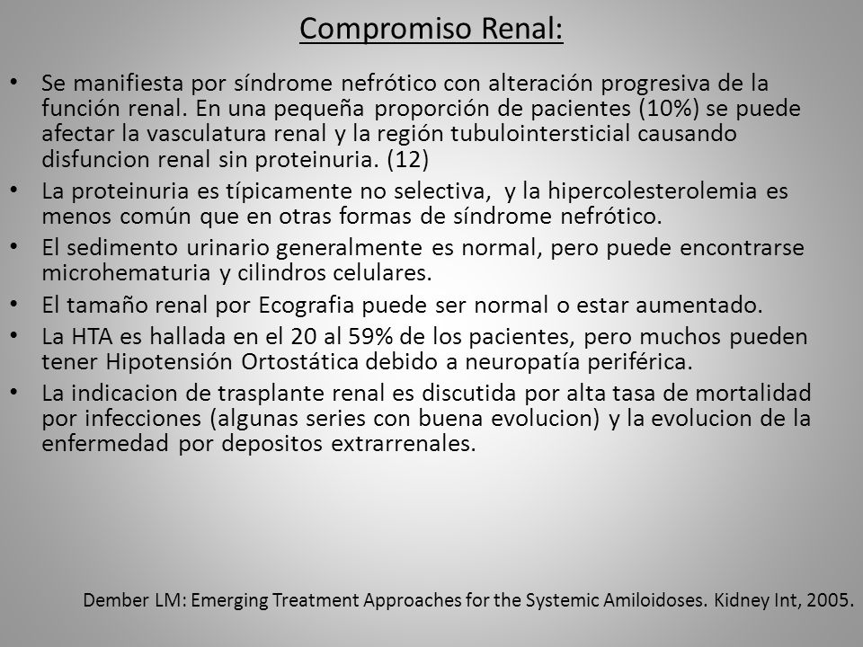 Compromiso Renal:
