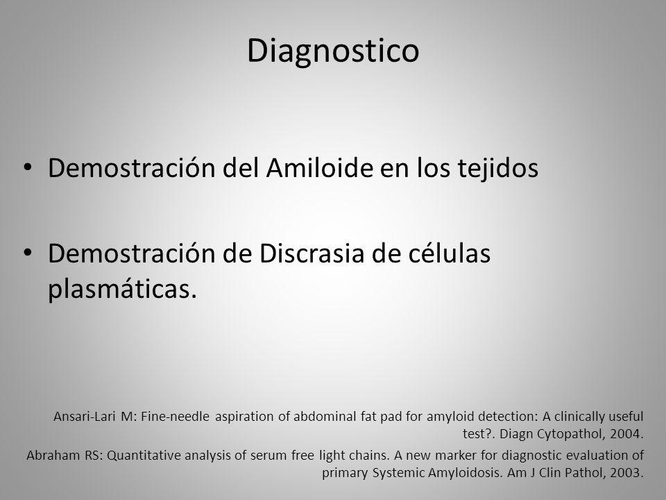 Diagnostico Demostración del Amiloide en los tejidos