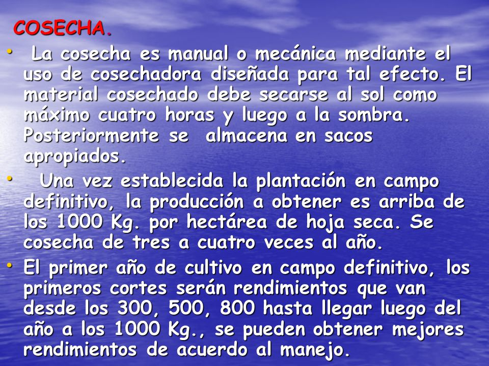COSECHA.
