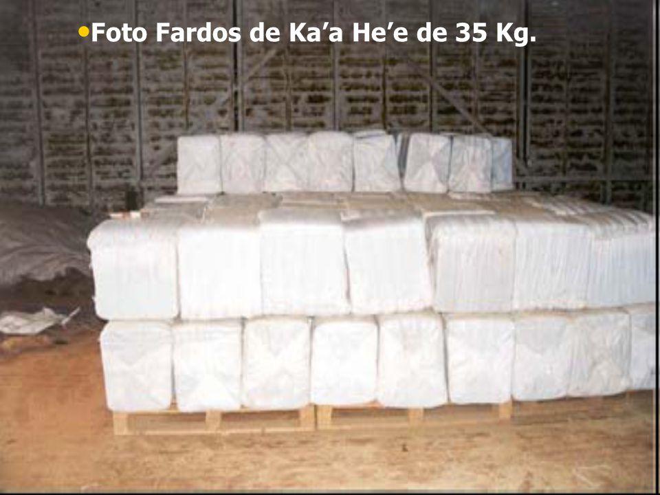 Foto Fardos de Ka'a He'e de 35 Kg.