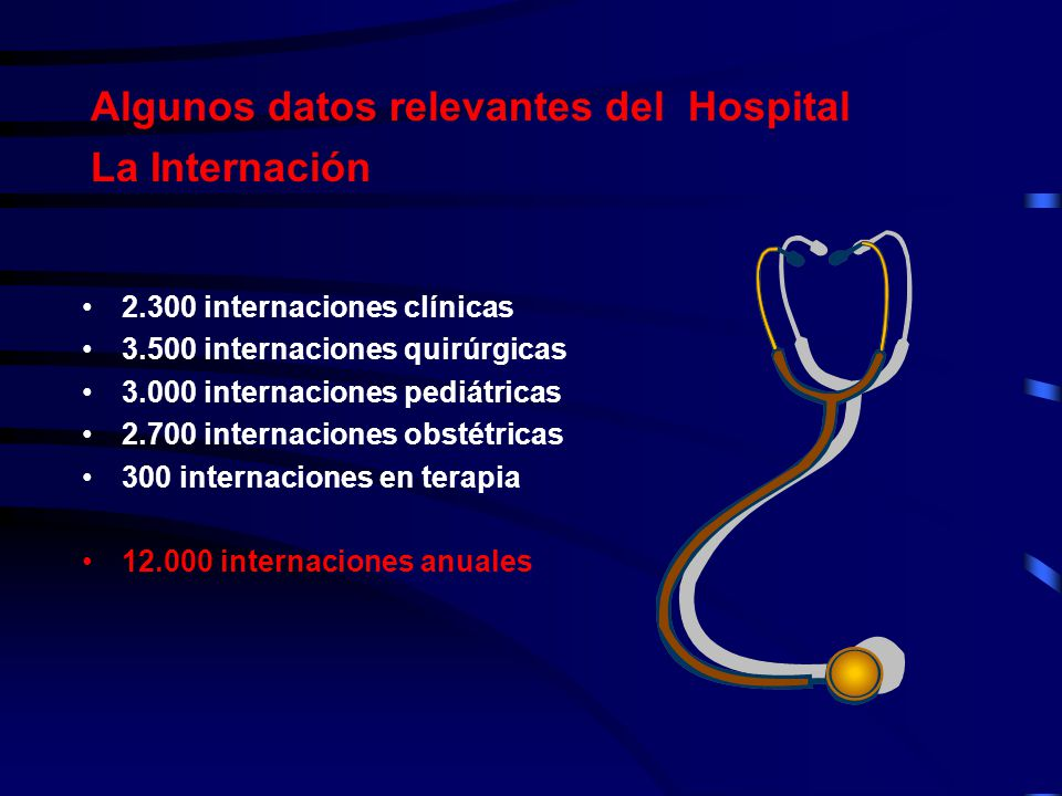 Algunos datos relevantes del Hospital La Internación