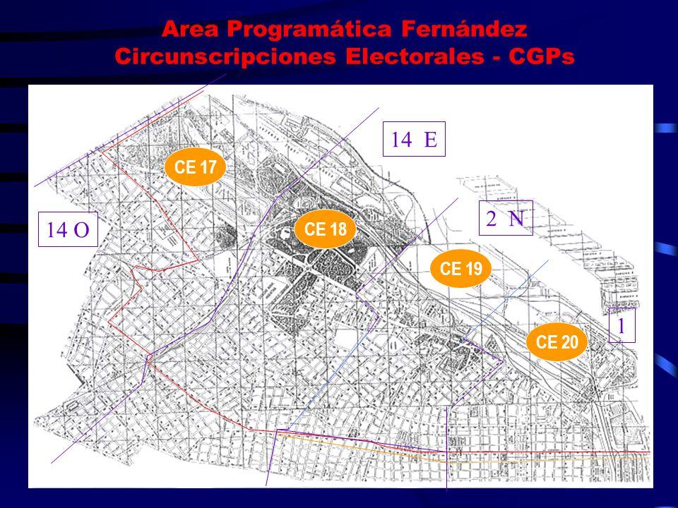 Area Programática Fernández Circunscripciones Electorales - CGPs